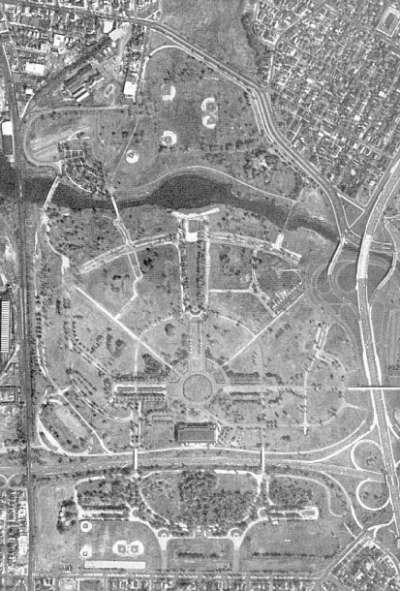 Flushing Meadow aerial - 1960