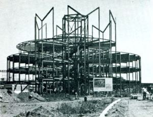 Steel frame of the Pavilion of American Interiors