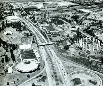 Transportation area construction, autumn 1963
