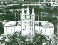 Mormon Pavilion construction