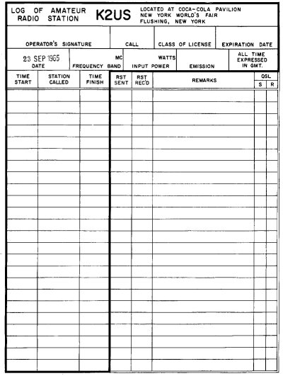 K2US Log Sheet