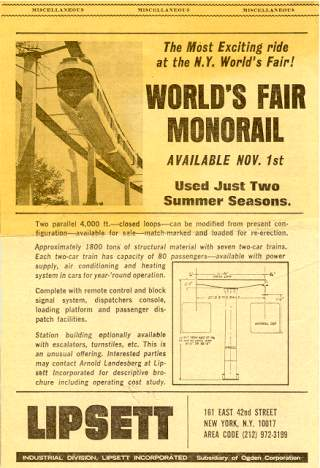 Monorail Advertisement