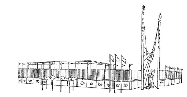 Artist's Rendering of the Pavilion of Paris