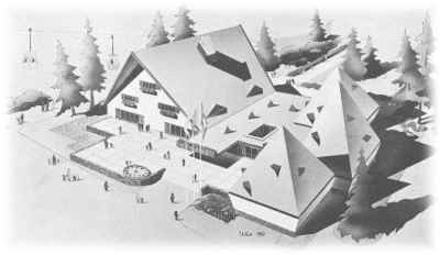 Artist's sketch of the Swiss Pavilion