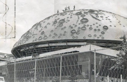 Demolition of Moon Dome
