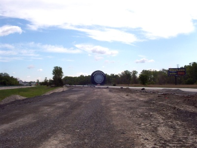 Approaching the Giant Tire